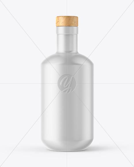 Ceramic Bottle with Wooden Cap Mockup