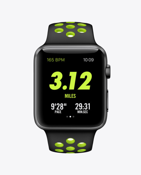 Apple Watch Nike+ Mockups