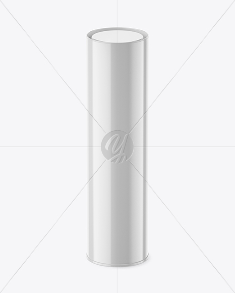 Download Opened Glossy Paper Tube Mockup High Angle Shot PSD - Free PSD Mockup Templates