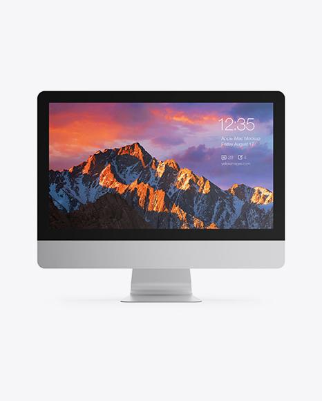 21,5' Apple iMac Mockup