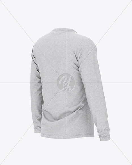 Download Mens Long Sleeve Henley Raglan Mockup Yellow Images