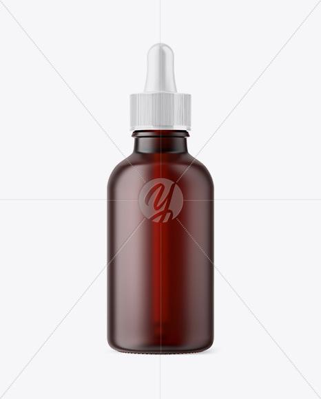 50ml Frosted Dark Amber Glass Dropper Bottle