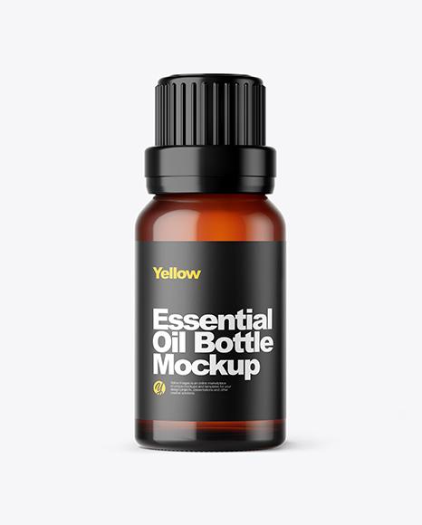 Amber Oil Bottle Mockup