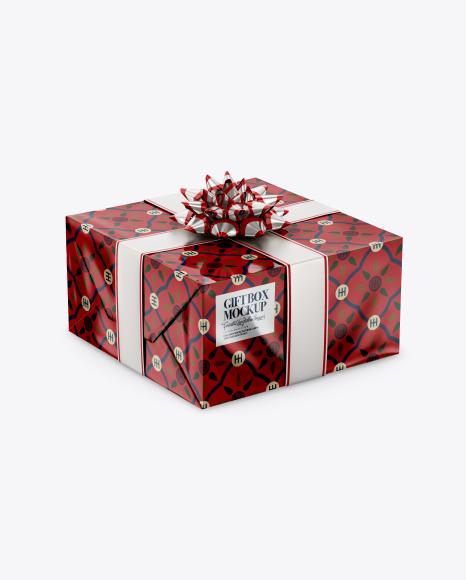 Download Glossy Gift Box Mockup PSD - Free PSD Mockup Templates