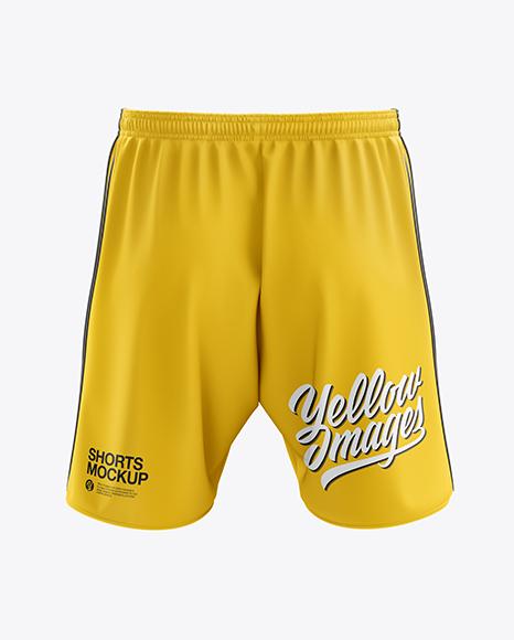 Men's Soccer Shorts mockup (Back View)