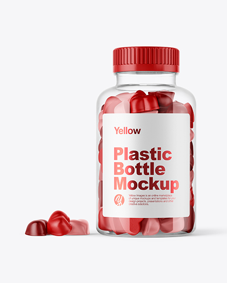 Plastic Bottle with Gummies