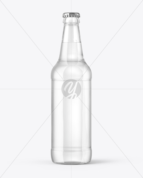500ml Tonic Water Bottle Mockup