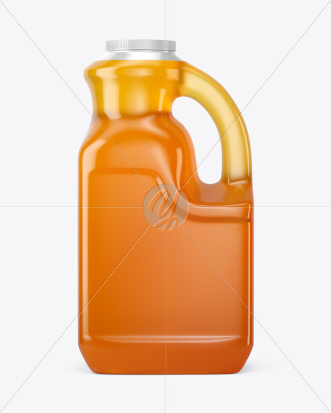 Plastic Jug w/ Pure Honey Mockup