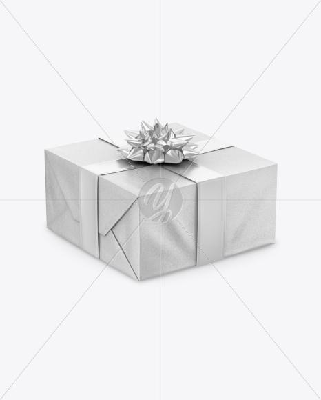 Download Glossy Gift Box With Metallic Bow Mockup PSD - Free PSD Mockup Templates