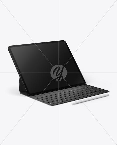 Ipad Pro with Pencil & Keyboard Mockup