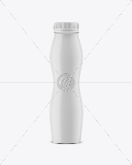 Matte Yogurt Bottle Mockup