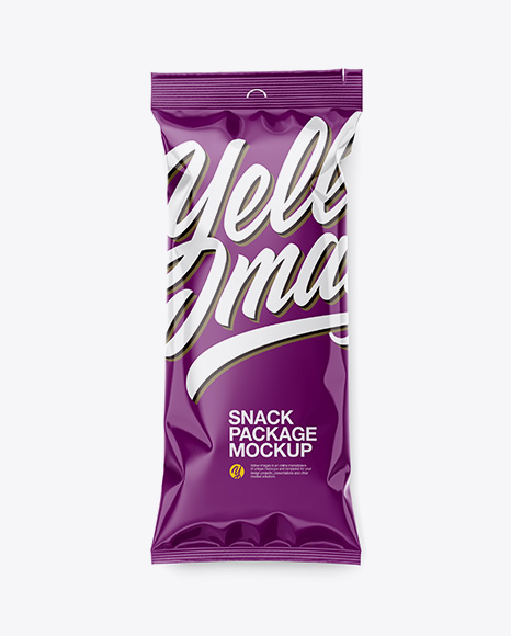 Glossy Snack Package Mockup
