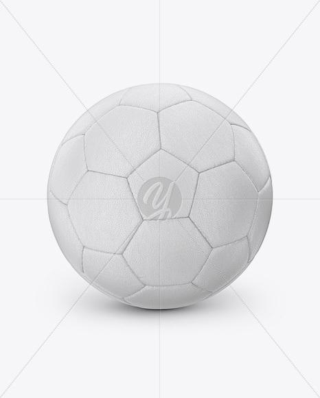 Leather Soccer Ball Mockup