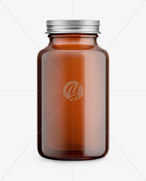 Download Amber Glass Pills Bottle Mockup Front View In Bottle Mockups On Yellow Images Object Mockups PSD Mockup Templates