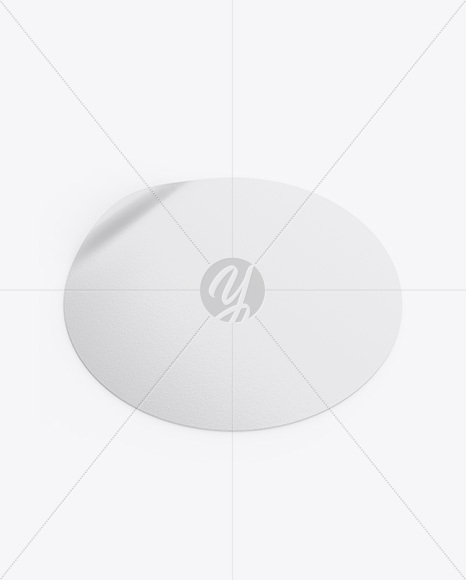 Textured Round Sticker Mockup