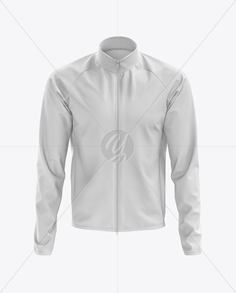 Men's Cycling Wind Jacket mockup (Front View)