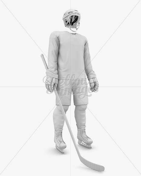 Men's Full Ice Hockey Kit mockup (Hero Shot)