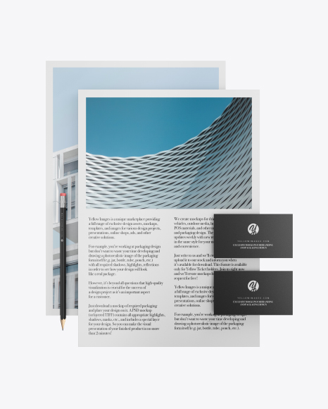 2 Paper Pieces And 2 Business Cards Mockup