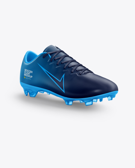 Soccer Cleat mockup (Half Side View)