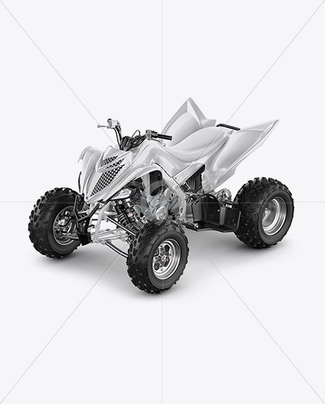 Quad Bike Mockup - Left Half Side View