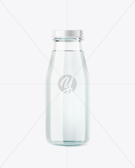 Glass Water Bottle Mockup In Bottle Mockups On Yellow Images
