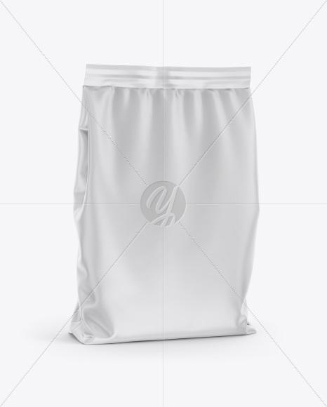 Matte Bag Mockup - Half Side View