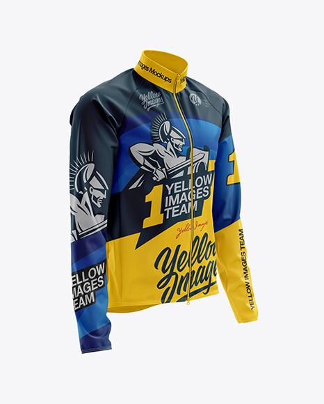 Men's Cycling Wind Jacket mockup (Half Side View)