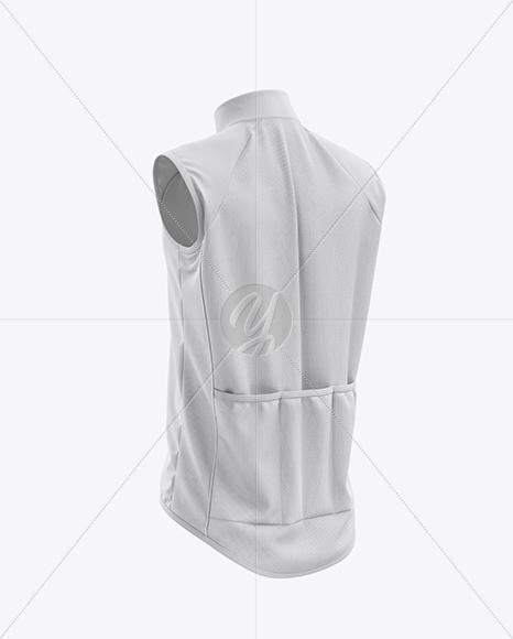 Men's Cycling Wind Vest mockup (Back Half Side View)
