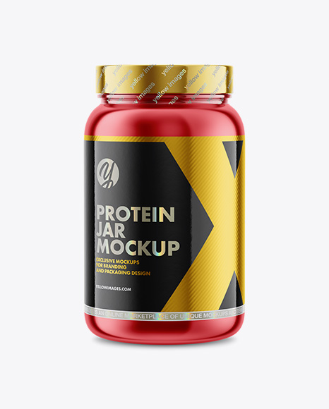Download Matte Metallic Protein Jar Mockup PSD - Free PSD Mockup Templates