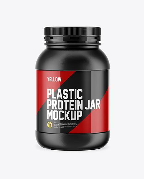 Plastic Protein Jar Mockup