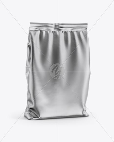 Metallic Bag Mockup - Half Side View