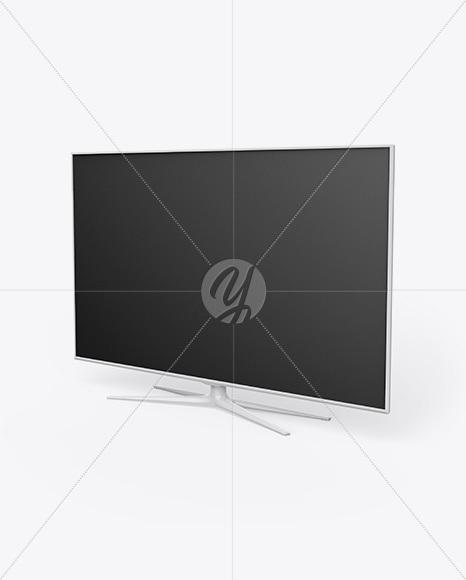 TV Mockup - Half Side View