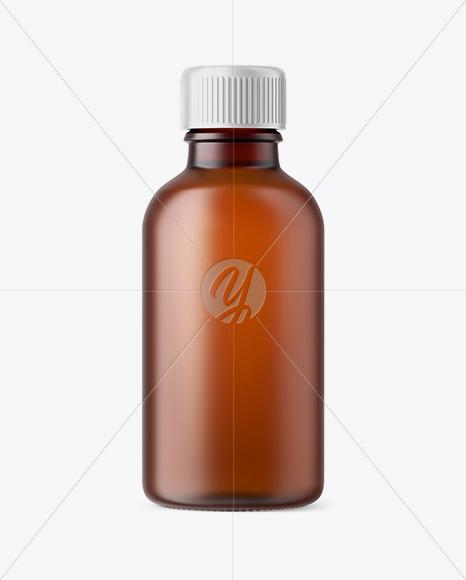 Download 15ml Blue Glass Dropper Bottle Kraft Box PSD - Free PSD Mockup Templates