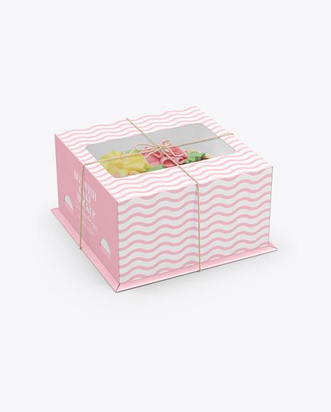 Cake Box Mockup Set
