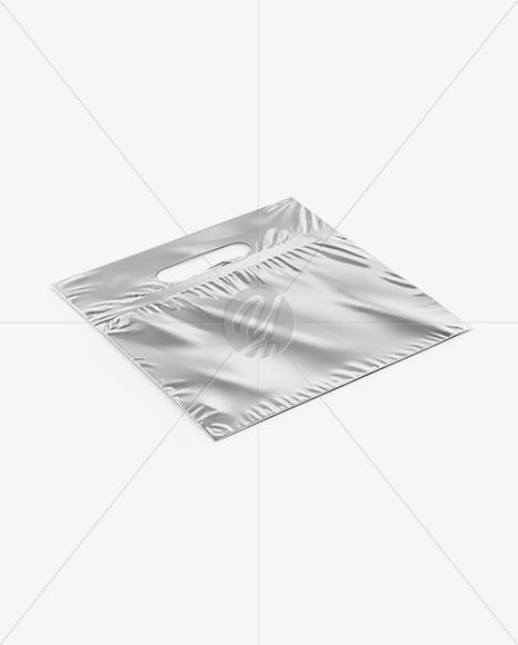 Metallic Plastic Carrier Bag Mockup