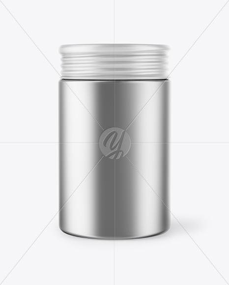 Metallic Storage Jar Mockup