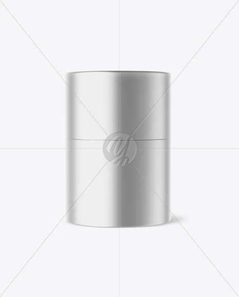 Download Metallic Round Box Mockup In Box Mockups On Yellow Images Object Mockups PSD Mockup Templates