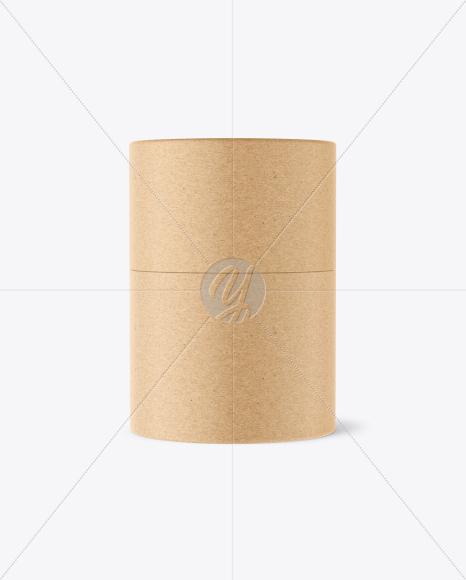 Download Kraft Round Box Mockup In Box Mockups On Yellow Images Object Mockups PSD Mockup Templates