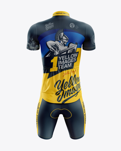 Download Mens Cycling Bib Knickers Mockup Back View Yellowimages