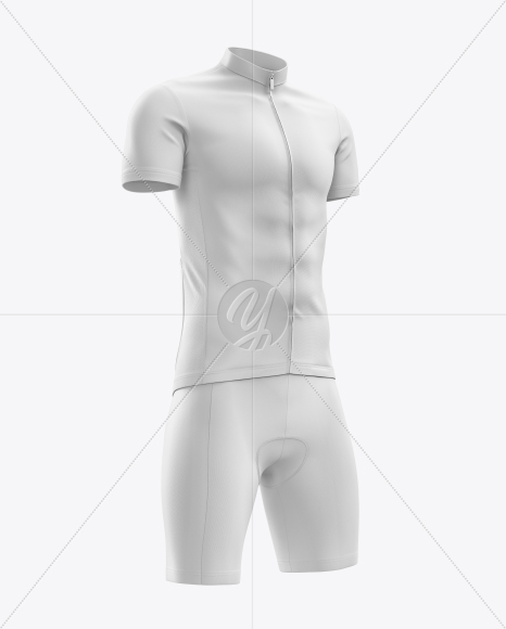 Men's Cycling Kit Mockup (Half Side View)