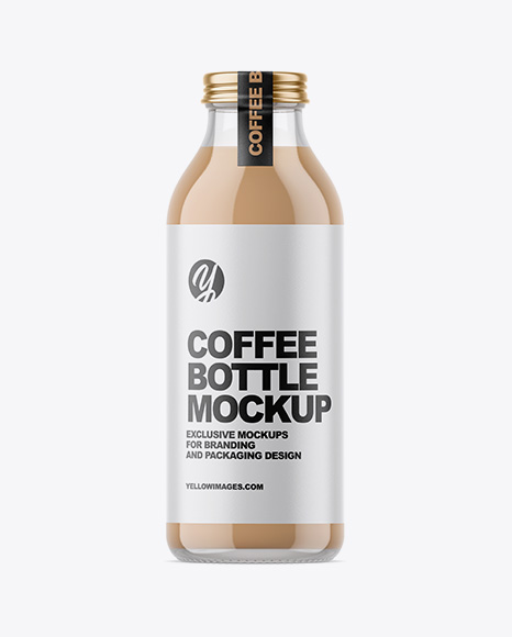 Ice Coffee Bottle Mockup