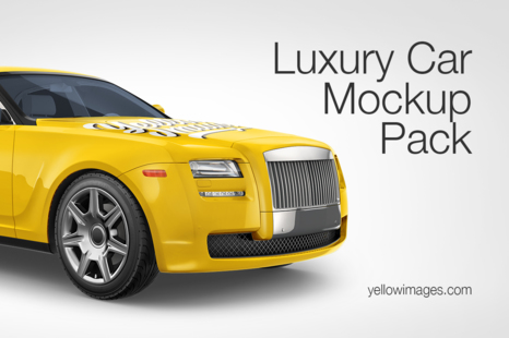 Download Newest Vehicle Mockups On Yellow Images Creative Store PSD Mockup Templates