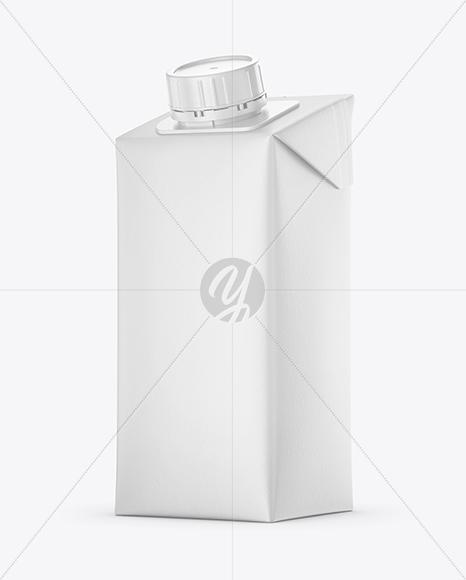 200ml Matte Juice Carton Package Mockup