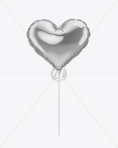 Metallic Heart Foil Balloon Mockup