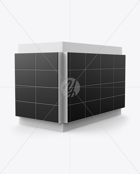 Corner LED Video Wall Mockup - Half Side View