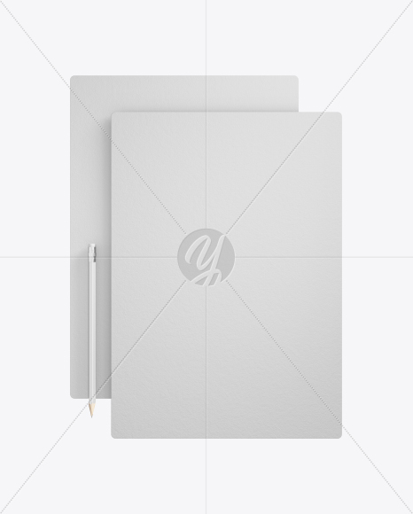 2 Textured Paper Pieces Mockup