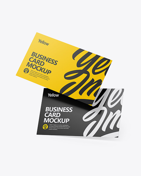 Clear Business Cards Set