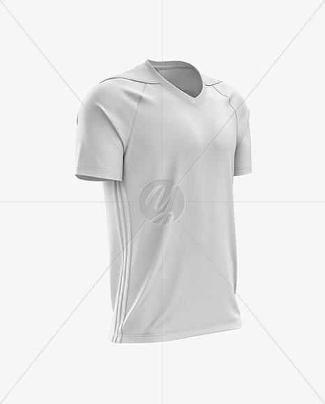 Men's Soccer Jersey mockup (Half Side View)
