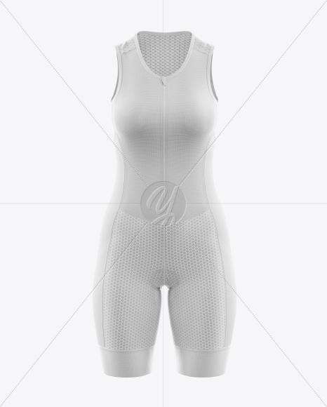 Women's Cycling Skinsuit Mockup (Front View)