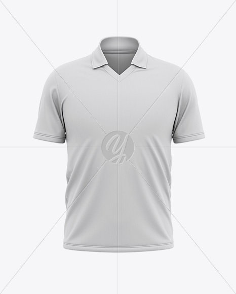 Download Men S Regular Short Sleeve Cricket Jersey Polo V Neck Shirt Front View Psd Best Free Mockups Design Tool
